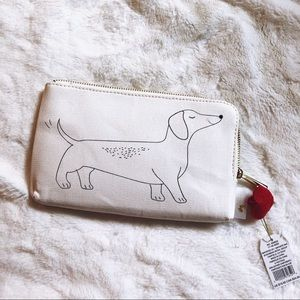Papyrus White Zipup Dog with Heart Pencil Case